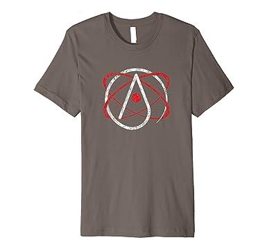 Amazon Atheist Atom Symbol T Shirt Distressed Graphic Tee