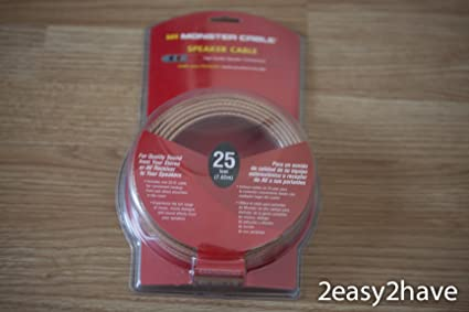 Monster Cable Speaker Wire - 25 Feet, 7.62m