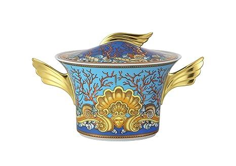 Versace Les Trésors De La Mer Sopera, Porcelana, Azul, 26.6x26.6x15