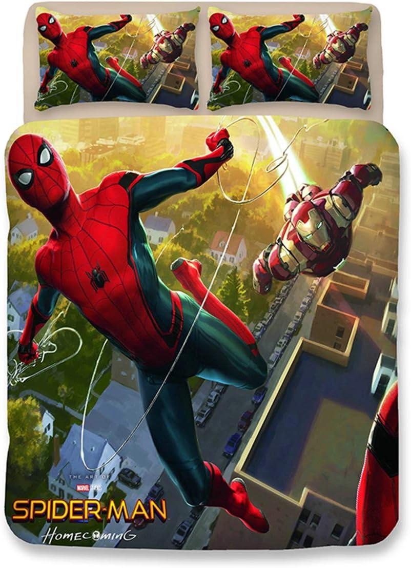 Leezeshaw 3 Pcs Spider Man Print Duvet