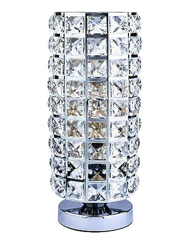 Creatgeek Crystal Table Lamp Modern Bedside Desk Light With On Off
