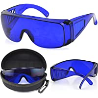 Golf Ball Finder Glasses with Blue Tinted Lenses Protective Case and Cleaning Cloth by TRIXES