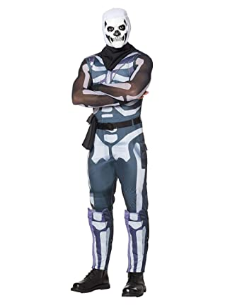 522c0e3f2c313 Amazon.com: Spirit Halloween Adult Fortnite Skull Trooper Costume for Adults  | Officially Licensed: Clothing