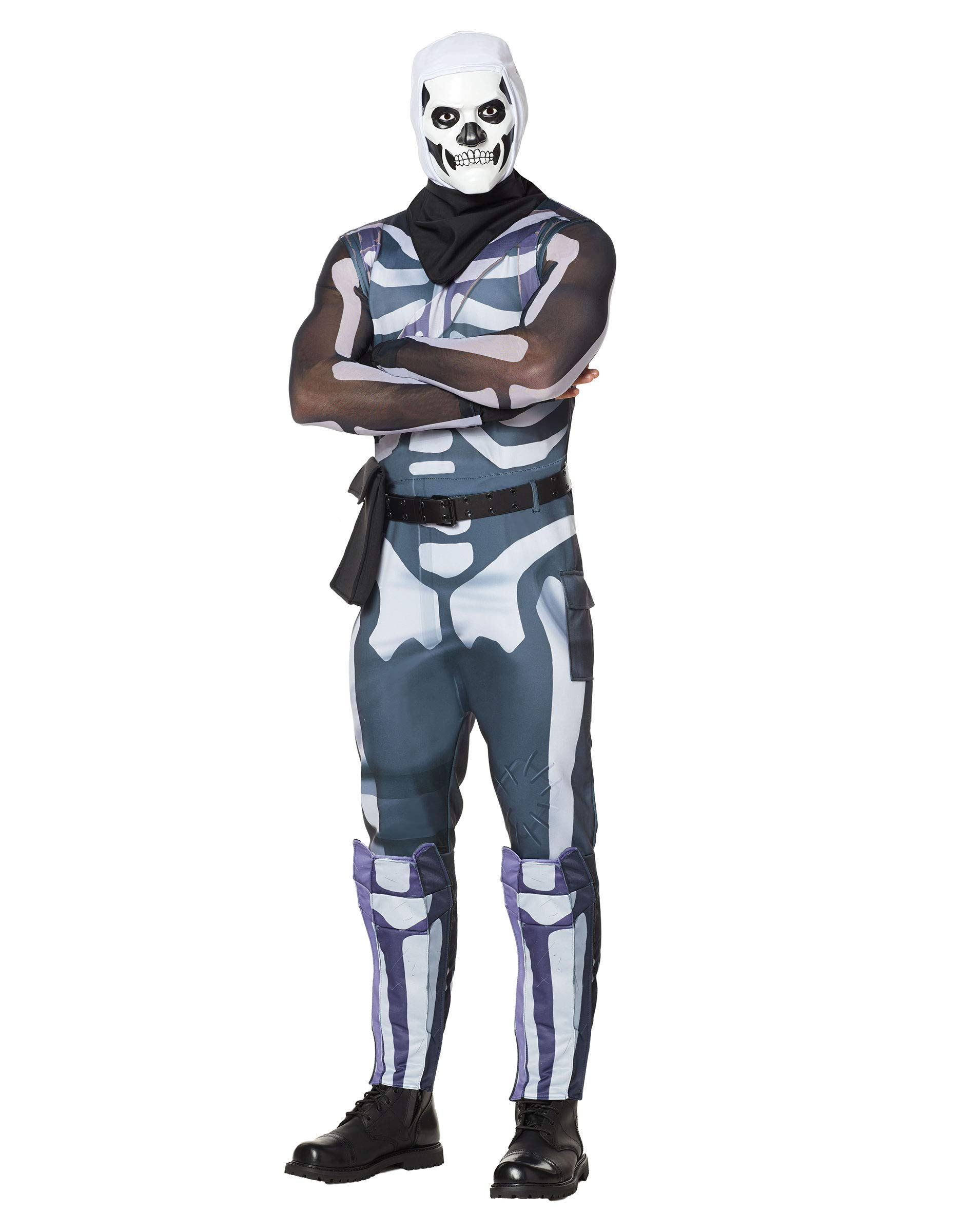 Fortnite Halloween Costumes 2019.Spirit Halloween Adult Fortnite Skull Trooper Costume For Adults Officially Licensed 2019 Halloween Party Central Hallowmix