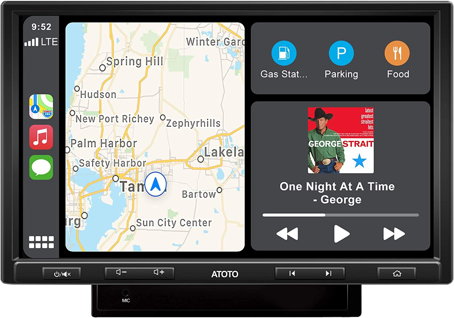 ATOTO F7 PE in-Dash Video Receiver - F7G210PE CarPlay&Android Auto Receiver with Bluetooth, Phone Charge,Phone Mirroring (Auto Link),USB/SD Playback (Read up to 2TB Storage) (10in,DAH10D Style)