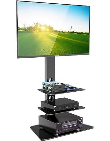 1home Base de Vidrio con Cantilever y Soporte Giratorio para TV de Plasma/LCD de