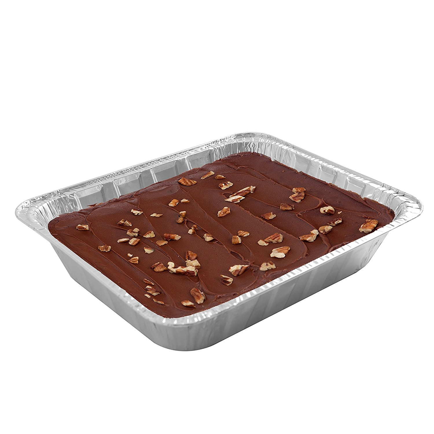 Jetfoil Aluminum Foil Steam Table Pans With Lids   Perfect for Catering, Party Supplies & Suitable for Broiling, Baking, Cakes and Pies - 9 x 13 Half size Deep   Pack of 30 by Jetfoil (Image #2)
