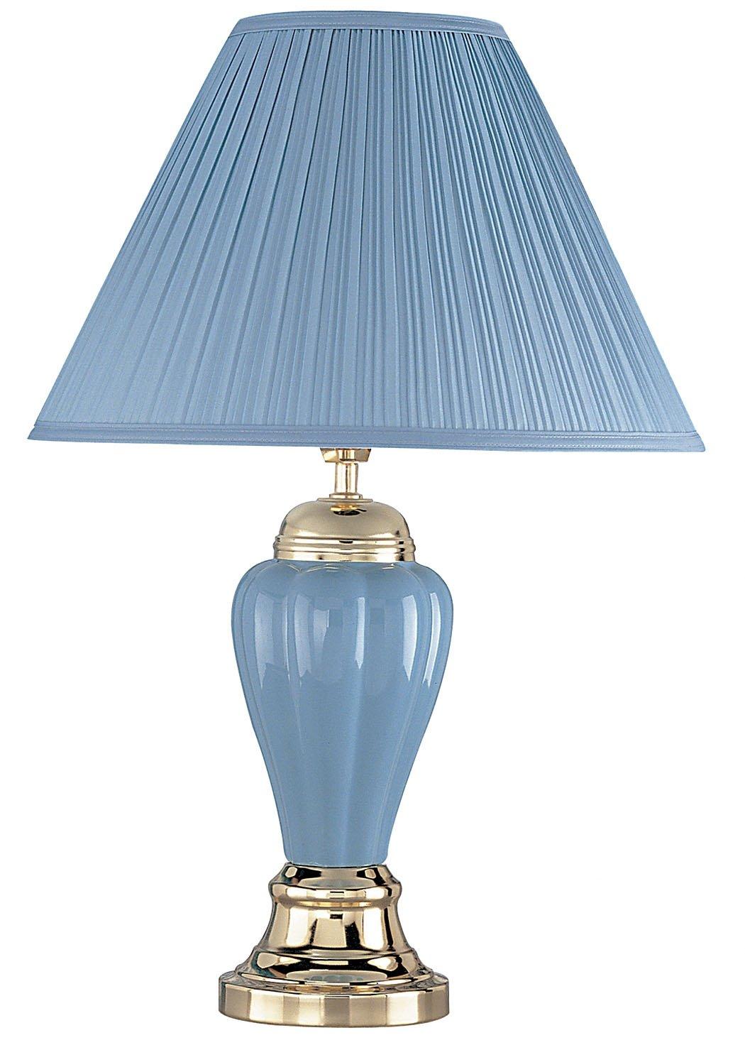 ORE International 6117BL 27-Inch 60-Watt Ceramic Table Lamp, Blue ...