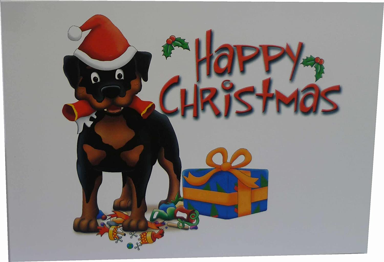 Rottweiler Christmas cards (pack of 10): Amazon.co.uk: Office Products