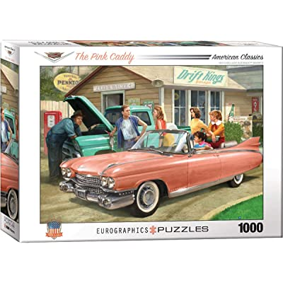 EuroGraphics The Pink Caddy by Nestor Taylor 1000-Piece Puzzle: Toys & Games