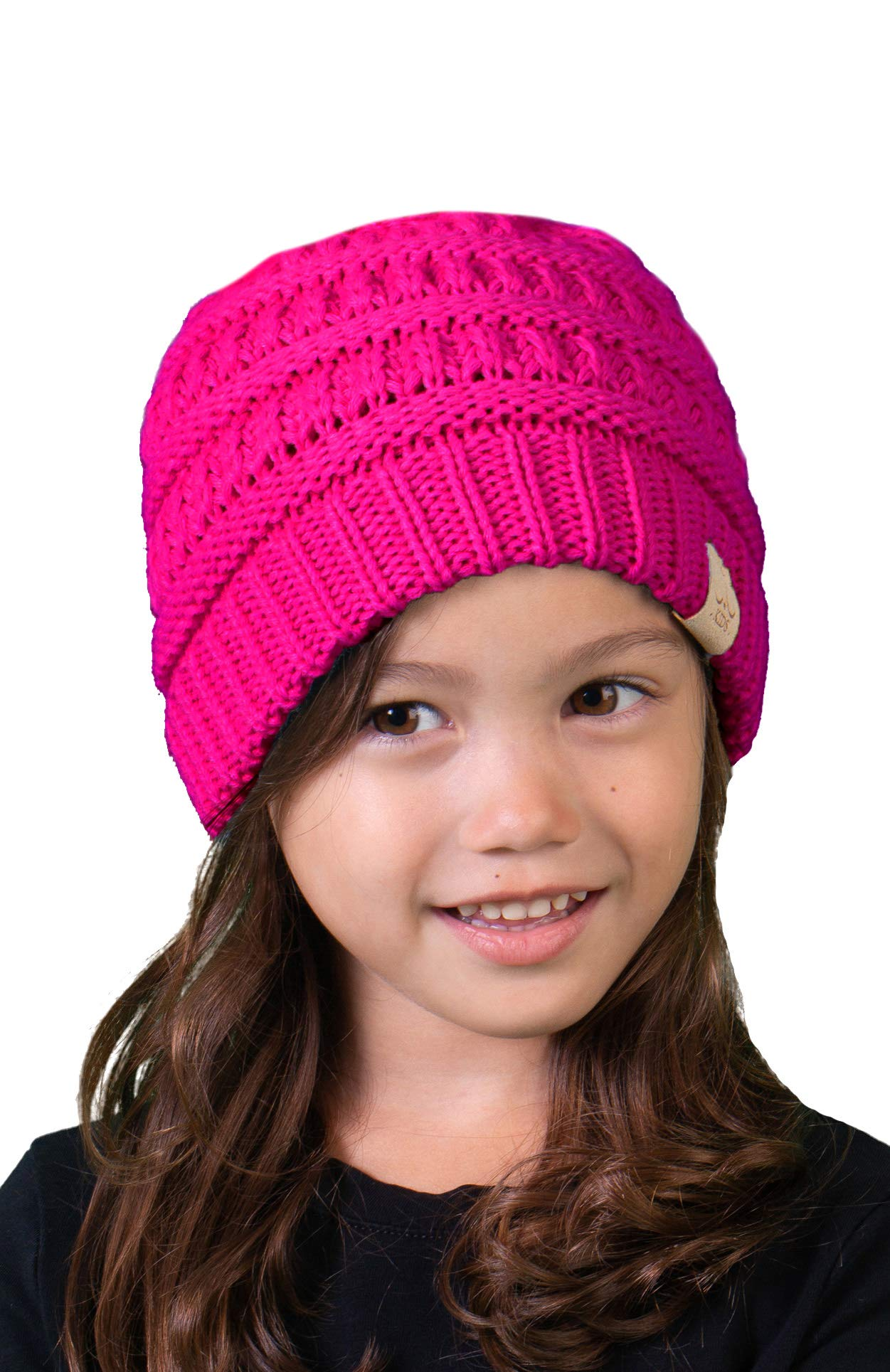 0f645a8d2af37 Funky Junque Kids Baby Toddler Ribbed Knit Children s Winter Hat Beanie Cap