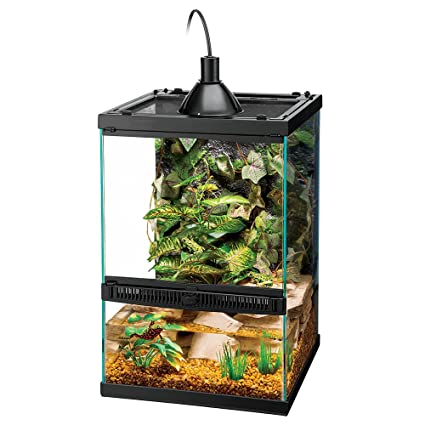 Zilla Tropical Reptile Vertical Starter Kit with Mini Halogen Lighting  sc 1 st  Amazon.com & Amazon.com : Zilla Tropical Reptile Vertical Starter Kit with Mini ...