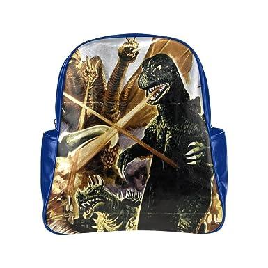 angelinana Godzilla Monstruo dinosaurio personalizado y organizador mochila estudiantes mochila escolar bolsa de viaje: Amazon.es: Ropa y accesorios