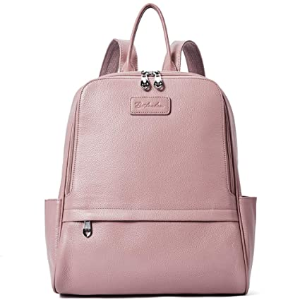 94ce267de4 BOSTANTEN Women Leather Backpack Purse Shoulder Bags for College Pink Small