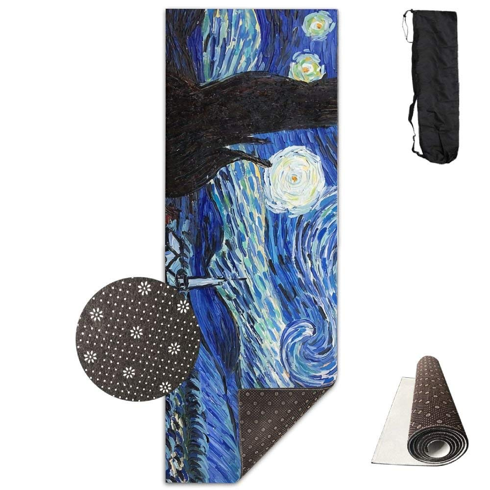Van Gogh Starry Night Yoga Mat Towel for Bikram Hot Yoga, Yoga and Pilates, Paddle Board Yoga, Sports, Exercise, Fitness Towel