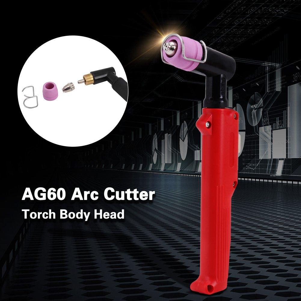 Cabezal de antorcha de corte SG-55 AG-60 WSD-60p Cuerpo de cabeza de antorcha de corte de plasma con interruptor de mirco para AG-60 Color rojo