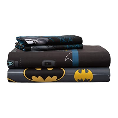 Franco Manufacturing DC Comics Batman 4 Piece Full Sheet Set: Kitchen & Dining