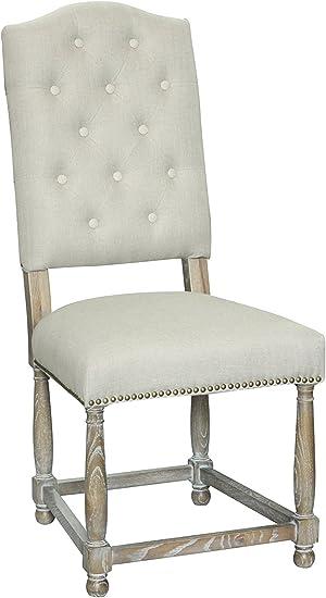 Dark Gray Pangea Home Samson Dining Chair Set of 2