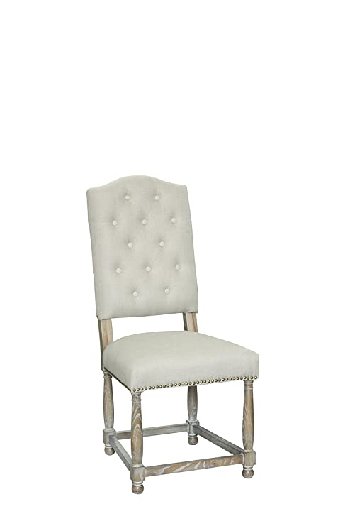 Pangea Home Z DC White and Linen Michael Dining Chair, Set of 2, 1&quot - Amazon.com - Pangea Home Z DC White And Linen Michael Dining Chair