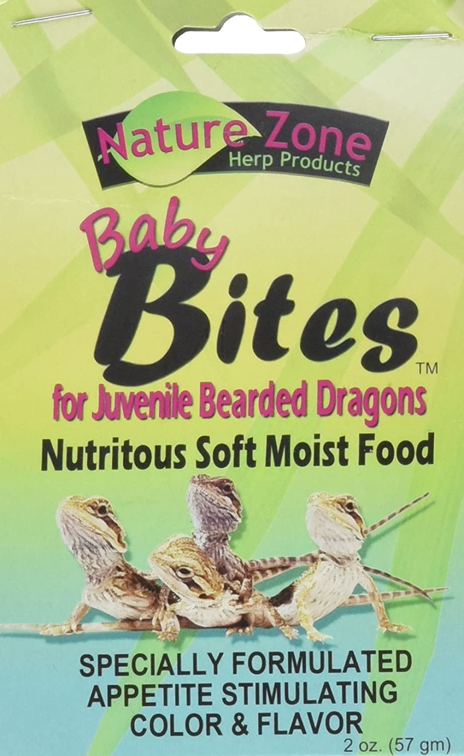 Nature Zone Juvenile Bearded Dragon Baby Bites Nutritious Soft Moist Food 2oz Nature Zone Pet Products FBA_13454625