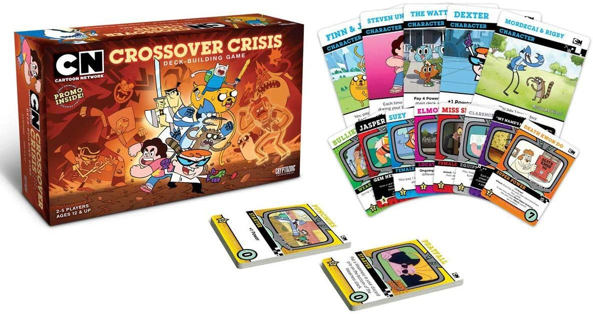 Amazon Com Cartoon Network Crossover Crisis Deck Building Game Toys Games