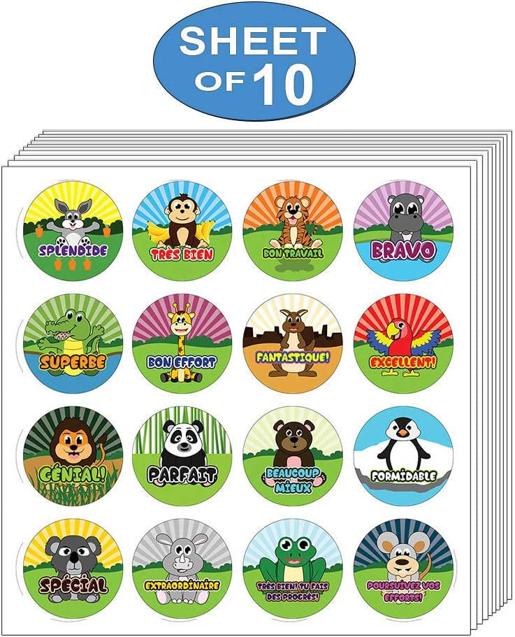 Rewards Incentive 10-Sheet Gift Stickers for Kids Teens Superhero Comic Creanoso Kids French Reward Stickers Awesome Stocking Stuffers Gifts for Boys /& Girls Surface D/écor Art Decal