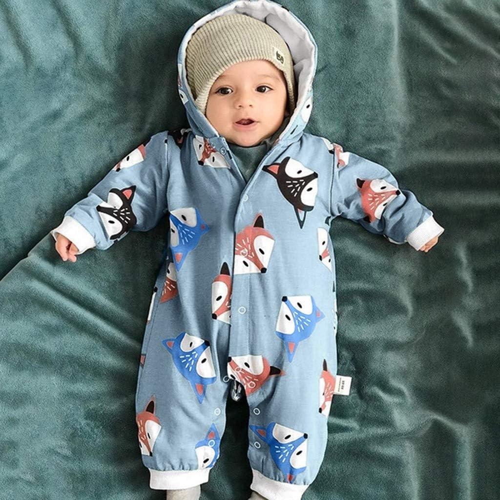 JUJ Overalls M/äntel f/ür Baby Jungen und M/ädchen,0-24 Monate S/äugling Baby M/ädchen Jungen Solid Cartoon Ohren Hoodie Strampler Kleidung Fleece Rompers