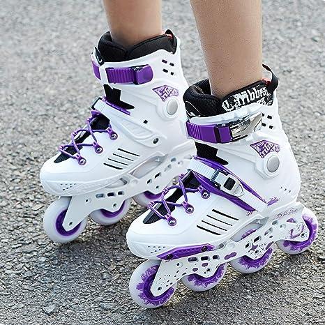 Amazon.com: Roller blades LDM Adult Inline Skates,Beginner Skates Thickened Bracket High-Grade Breathable Purple (Color : A, Size : EU 37/US 5/UK 4/JP ...