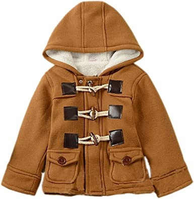 FIged Kids Baby Girl Boys Winter Hooded Coat Cloak Jacket Thick Warm Outerwear Clothes