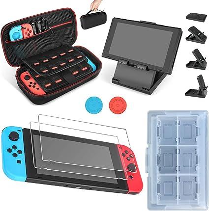 Juego de Funda y Accesorios para Nintendo Switch 7 en 1, Protector ...