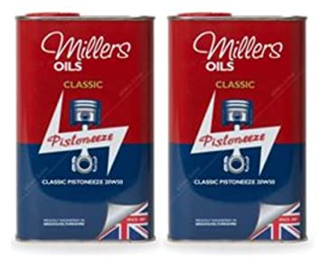 Millers Classic Pistoneeze 20w50 - Aceite Mineral para Motor, 2 litros: Amazon.es: Coche y moto