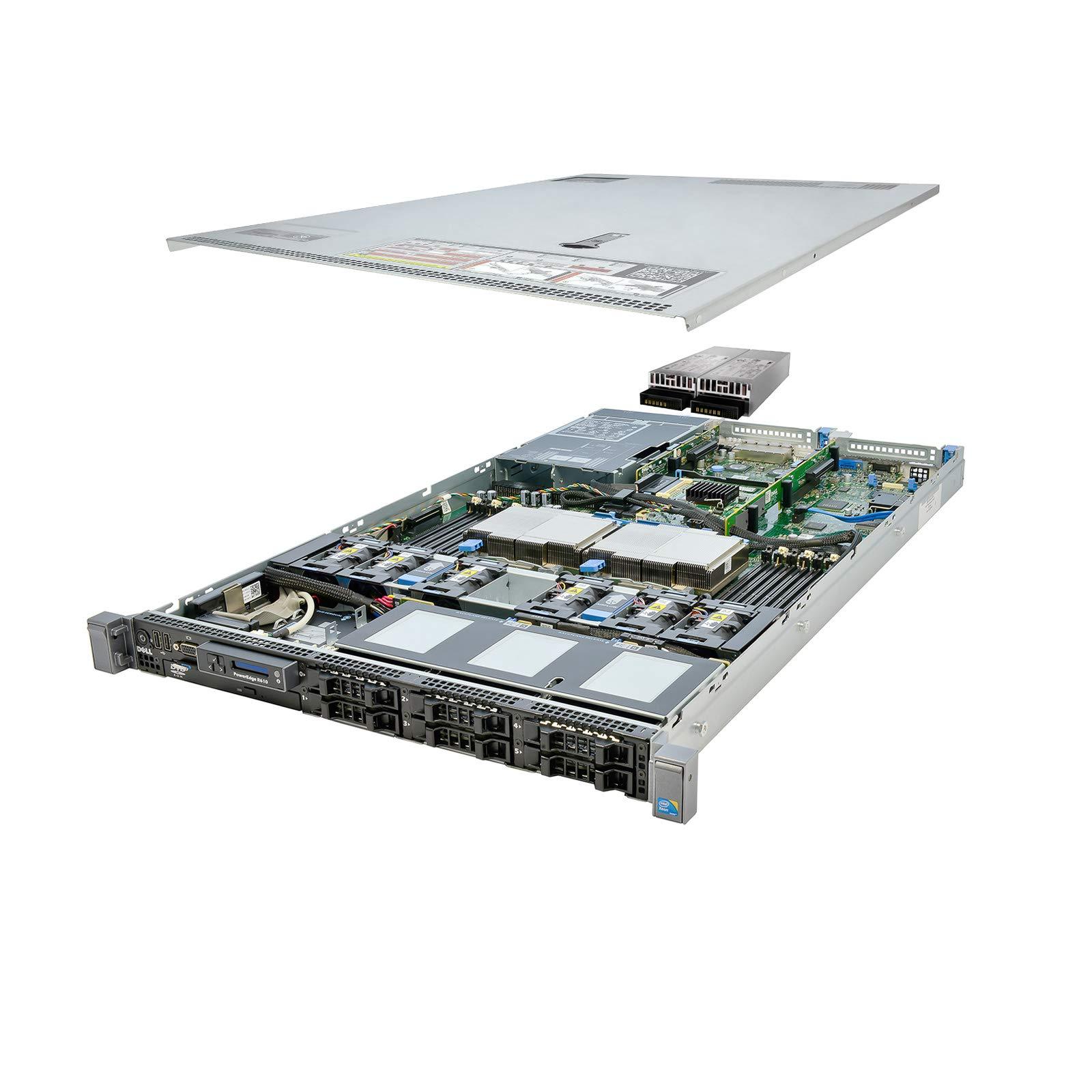 DELL PowerEdge R610 Server 2X 3.33Ghz X5680 6C 128GB 6X Caddies Premium (Renewed)