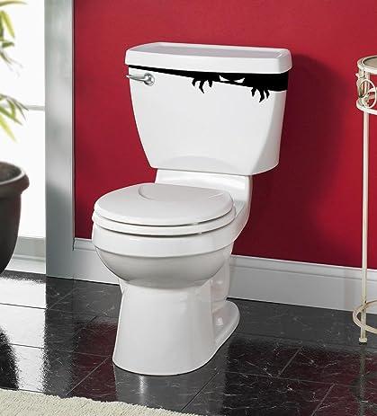 Tank Monster Toilet Decor Sticker Vinyl Decal Bathroom Wall