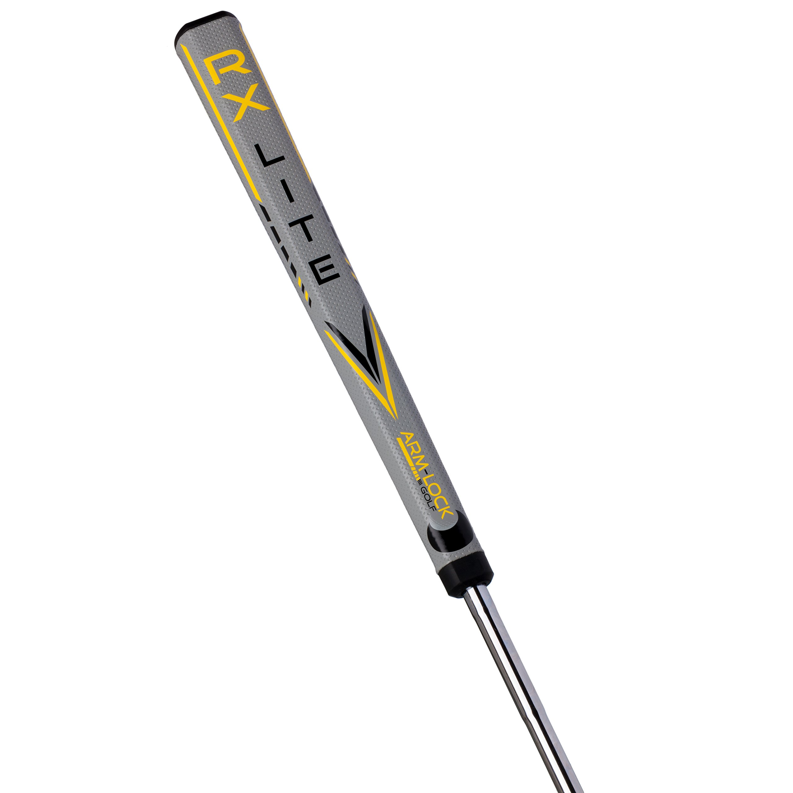 Arm-Lock Golf Professional Oversize Putter Grip - 14-Inch Long Suitable for All Putters - Quality Putter Grip in Grey/Black/Yellow by Arm-Lock Golf