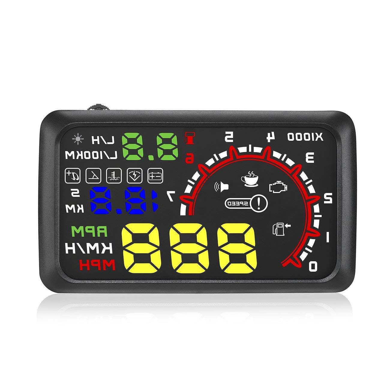 Interruptor de Alarma de Advertencia Velocidad de Exceso de Velocidad Advertencia de la Interfaz del proyector OBD2 de HUD del Coche HUD 5c241a