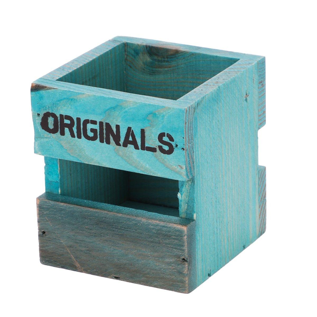 Pot à Crayon en pin Pot de Rangement Organisateur de bureau Stylo Crayon Boite De Maquillage Classique Multifonction Cadeau de Fête Anniversaire pour Scolaire Maison Bureau Salon ITODAUK