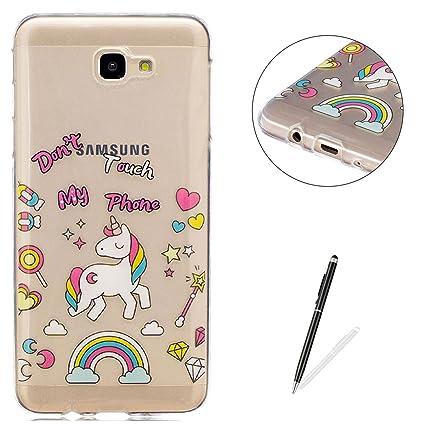 Amazon.com: Galaxy J7 Prime Transparent case [Free Black ...
