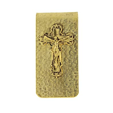 Amazon Symbols Of Faith 14k Gold Dipped Crucifix Money Clip