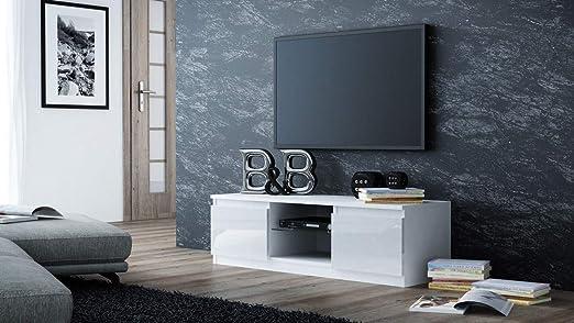 Generic - Mueble para televisor (120 x 120 cm, luz LED Azul Brillante con Ed Ligh Modern TV Unit, 55