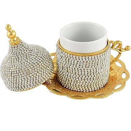 Juego De 4 Tazas De Espresso 2 35 Oz Tazas De Cafe Vidrio