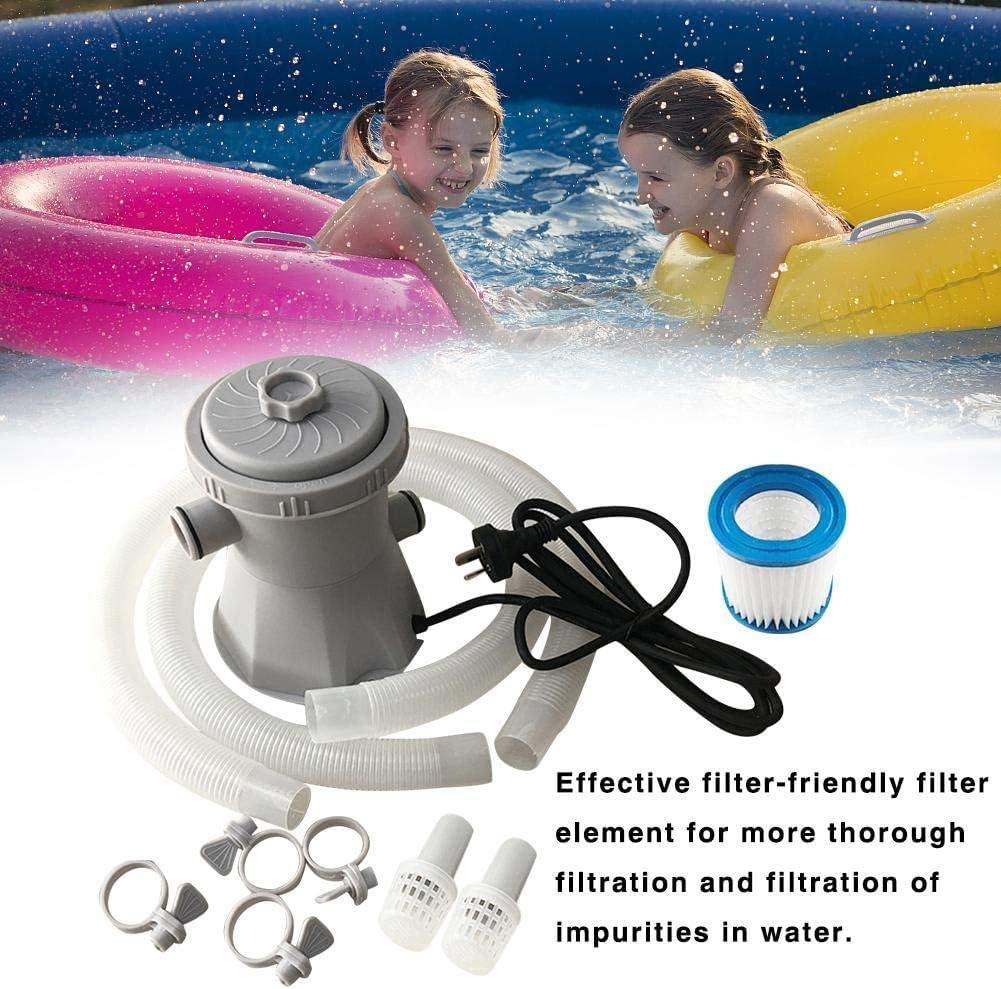 HOBFU Pool Filters Pump,110V 300 GPH Pool Pump Above Ground,Filter Pump for Above Ground Pools Electric Swimming Pool Filter Pump Cleaning Tool 300 gallons
