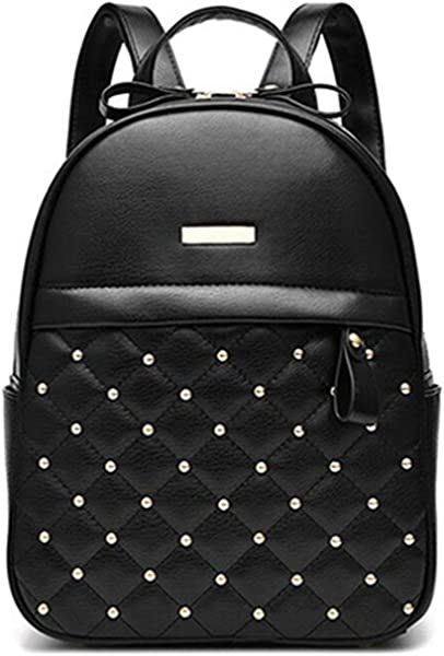 Toping Fine Women Backpack Hot Sale Fashion Causal bags bead female shoulder bag PU Leather Backpacks