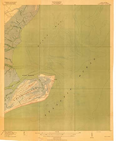 South Carolina Map Islands.Amazon Com South Carolina Maps 1919 Bulls Island Sc Usgs