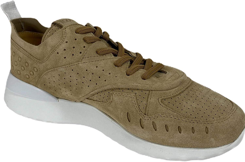 Tod\'s C72 Sneakers Donna Suede Dark Beige Shoes Women Beige Scuro
