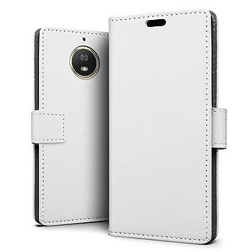 SLEO Funda Motorola Moto G5S Plus, Cartera Carcasa Piel PU Suave Flip Folio Caja Super Delgado [Estilo Libro,Soporte Plegable y Cierre Magnético] para ...