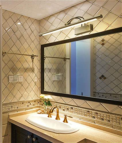 Susuo Modern Led Vanity Lights For Mirror Warm White Brushed Gold Bathroom Vanity Lighting Fixtures Long Shade Makeup Light Wall Sconce Amazon Com