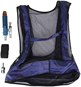 FTVOGUE Black Welding Steel Air Compressed Cooling Vest Vortex Tube Air Conditioner Waistcoat for Work