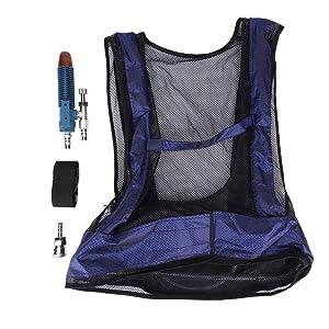 Vortex Tube Air Conditioner Waistcoat, Welding Steel Air Compressed Cooling Vest Vortex Tube Air Conditioner Vest, Protective Workwear