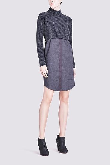 8515c7a5fff Elie Tahari Raleigh Sweater Dress Charcoal (L)  Amazon.ca  Clothing ...