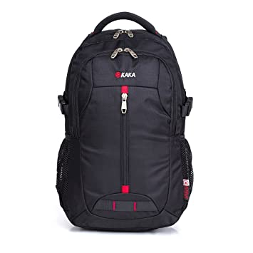 Amazon.com: KAKA Classic Laptop Backpack Travel Backpack Black ...